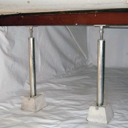 corrosion resistant crawl space support jacks made from galvanized steel