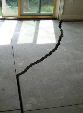severely cracked foundation slab floor in Cabot