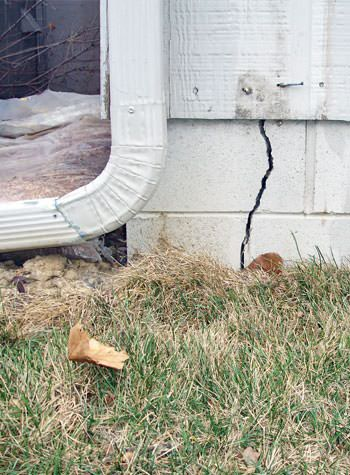 foundation wall cracks due to street creep in Corinth