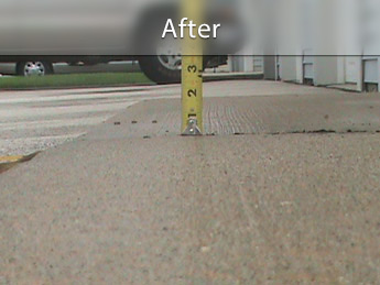 Repairing driveway with concrete leveling in TN, MS, and AR