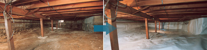 Crawl Space Repair in TN, MS, and AR, including North Little Rock, Jackson & Memphis.