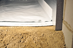 Insulating crawl space with foam insulation