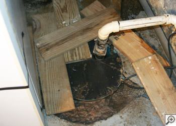 An ugly, clogged sump pump system in Cordova, Tennessee, Mississippi and Arkansas