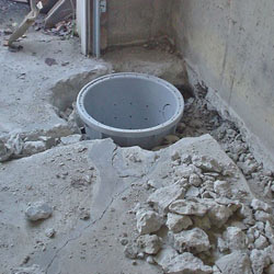 Placing a sump pit in a Southaven home