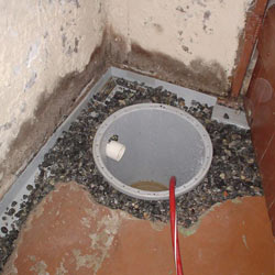 Installing a sump in a sump pump liner in a Jackson home