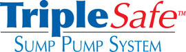 Sump pump system logo for our TripleSafe™, available in areas like Batesville